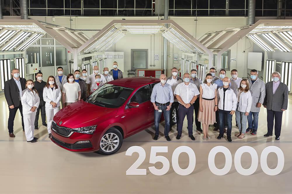 Юбилейный ŠKODA RAPID: 250-тысячный экземпляр модели сошел с конвейера завода в Калуге
