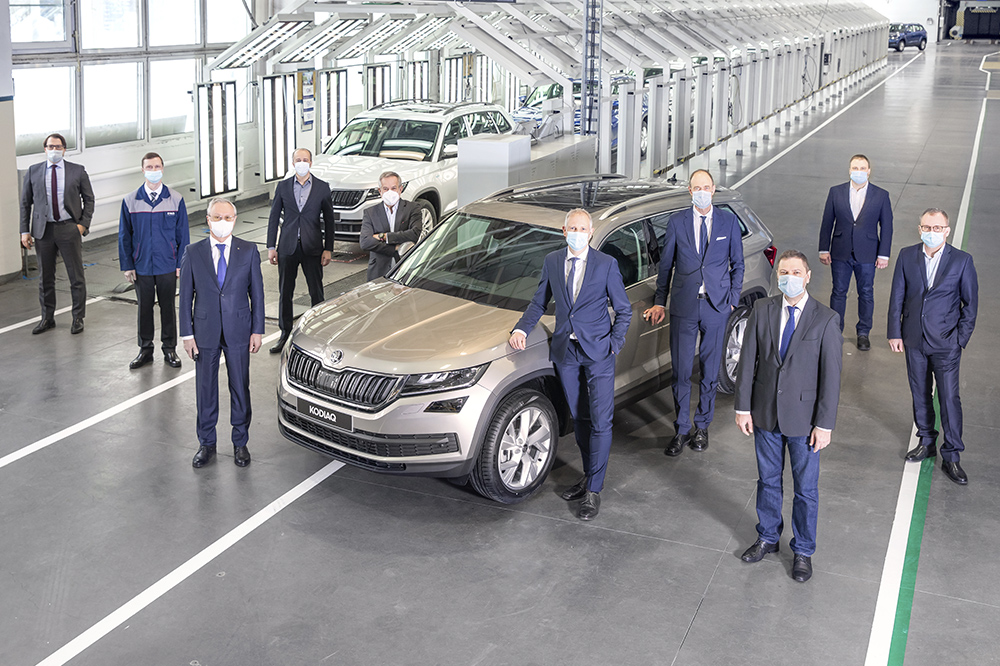 Volkswagen Group Rus celebrates production of the 400,000th car at the Nizhny Novgorod plant