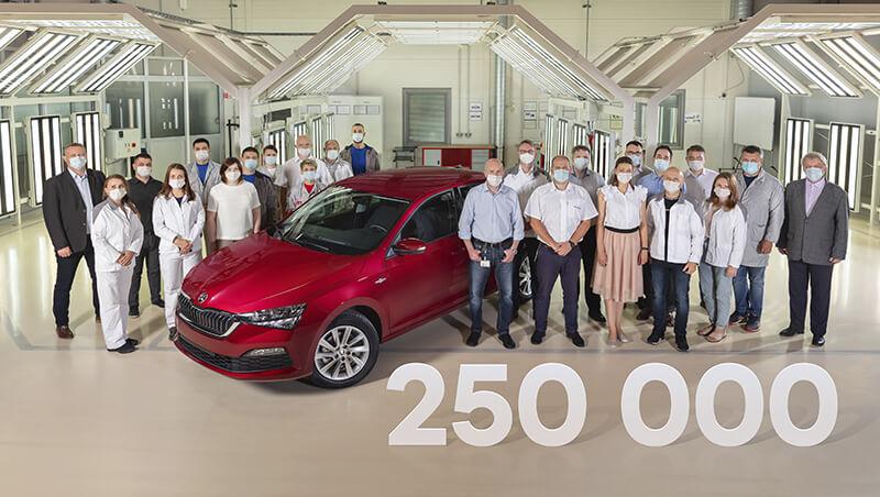 Anniversary ŠKODA RAPID: the 250,000th vehicle manufactured in Kaluga